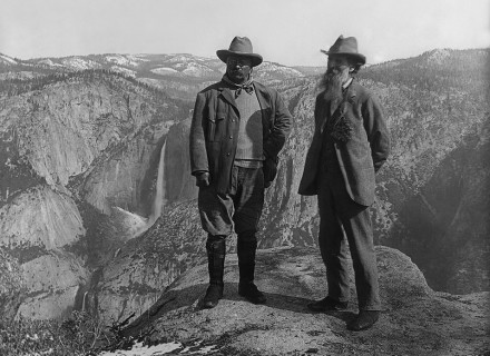 Theodore Roosevelt and John Muir in Yosemite National Park. Photography: Library of Congress